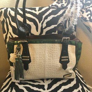 NWT Madi Claire Medina croc embossed satchel